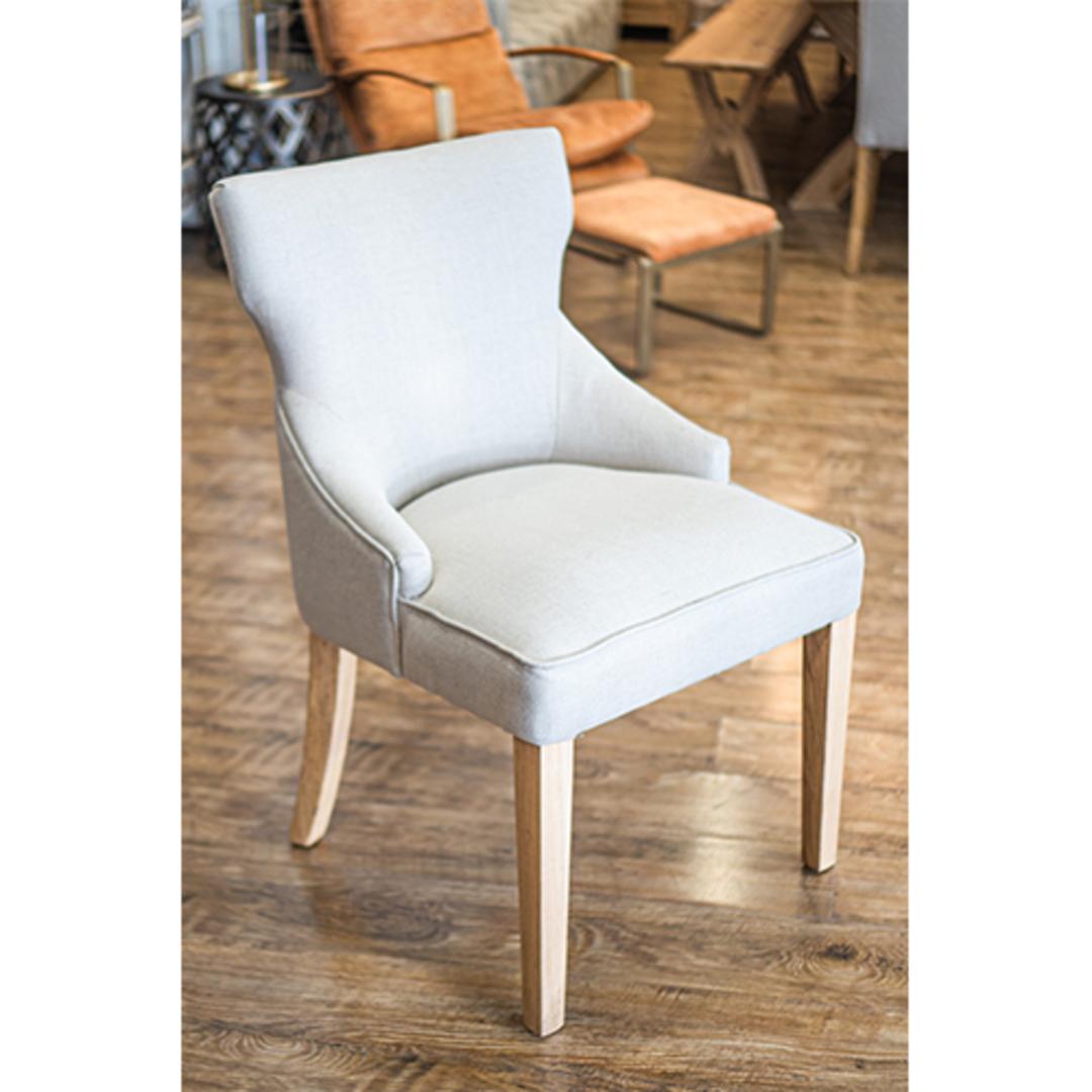 Fleur Dining Chair Natural Linen image 2