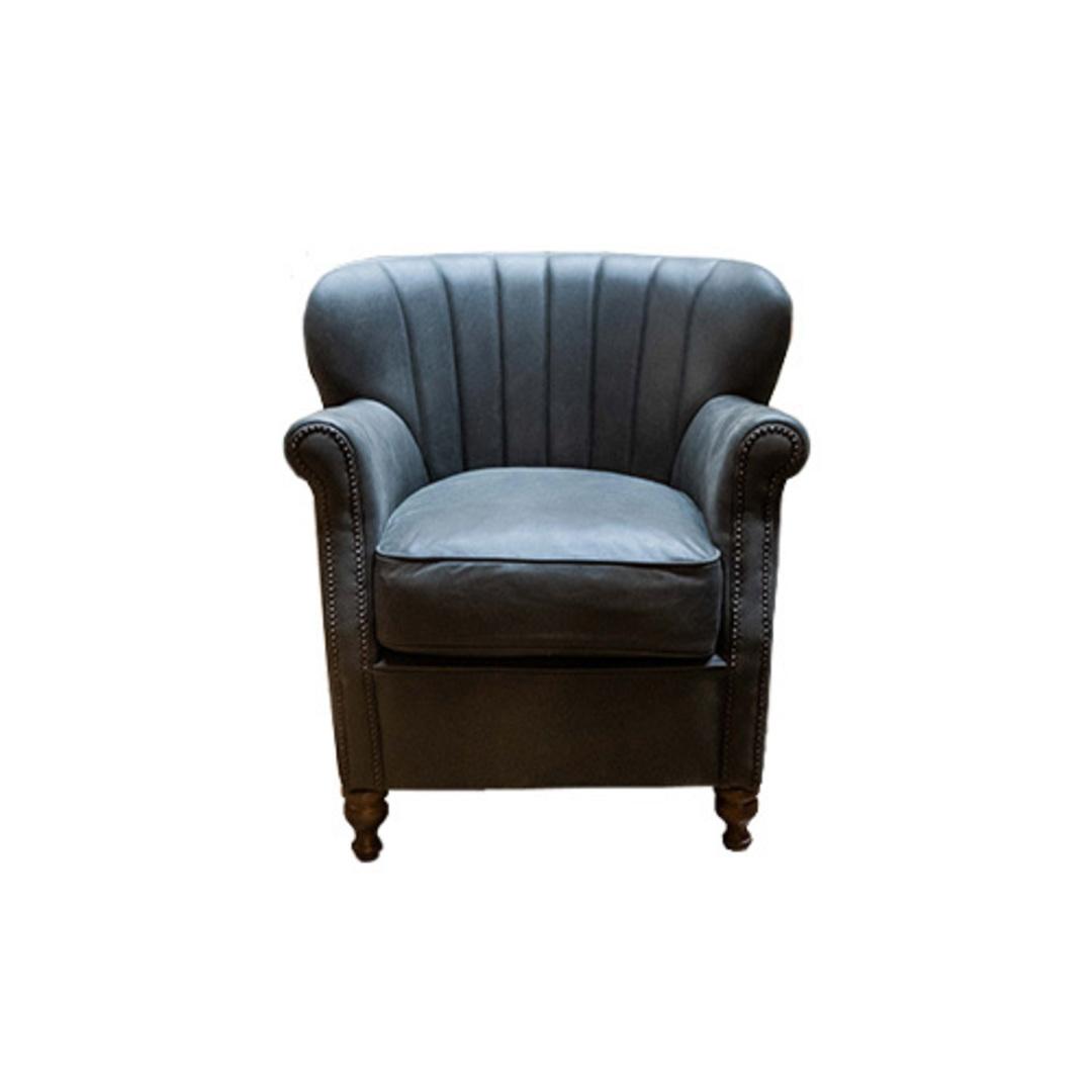 Percy Chair Plush Velvet Charcoal image 0