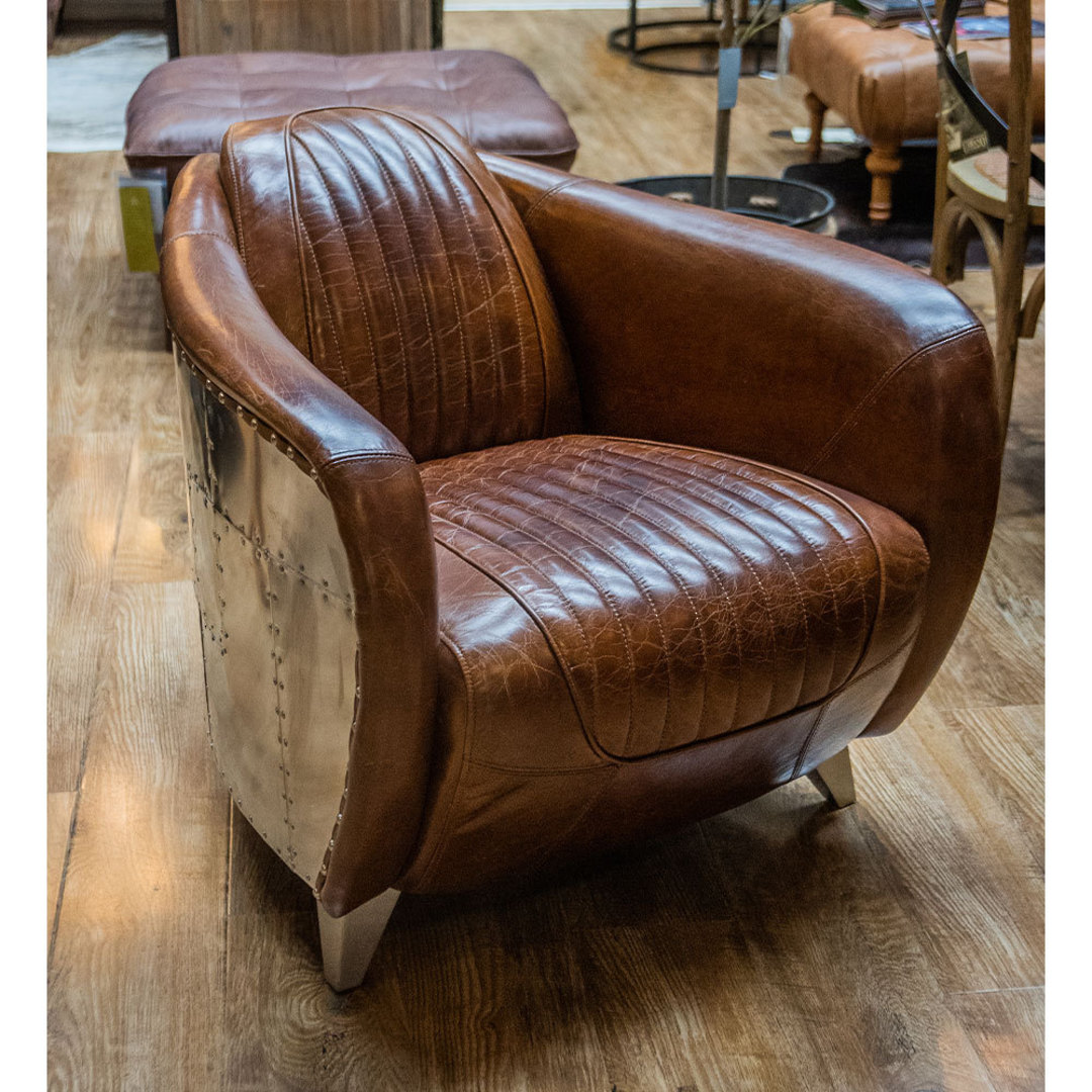 Lancaster Aged Italian Leather Chair image 4