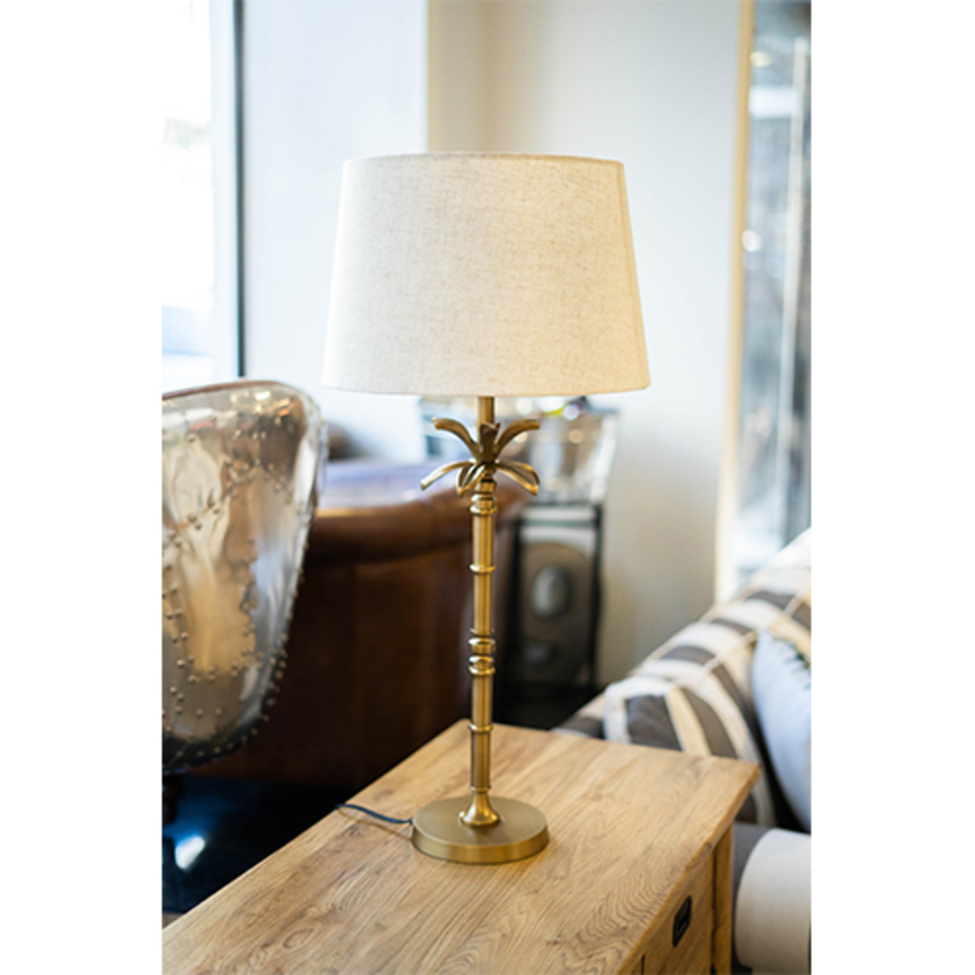 Table Lamp With Shade - Natural Linen image 1