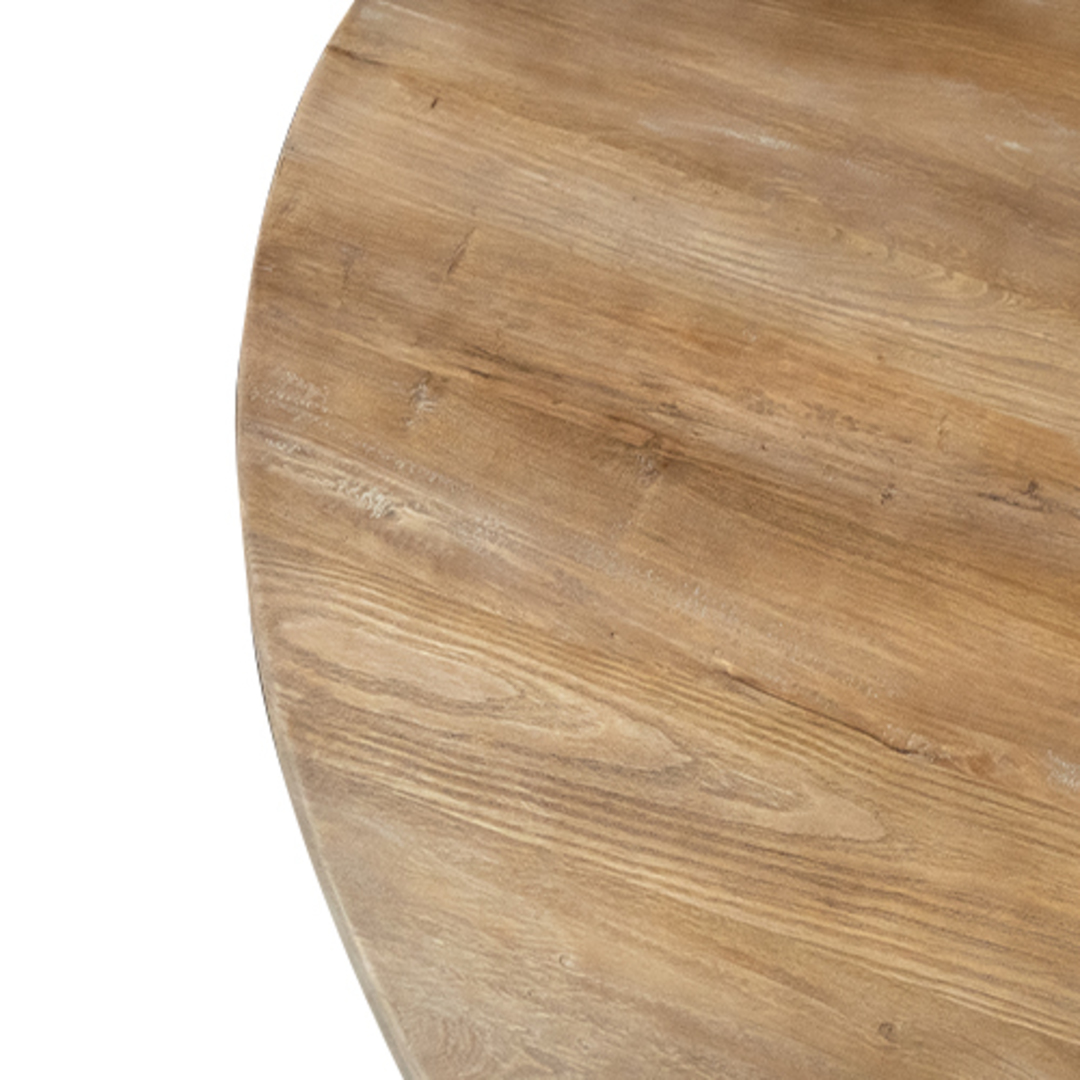 Recycled Elm Round Dining Table 1.5M image 2