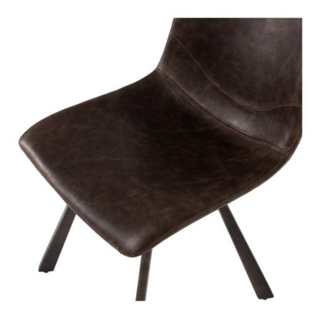 Rustic Chair Vintage Dark Brown image 4