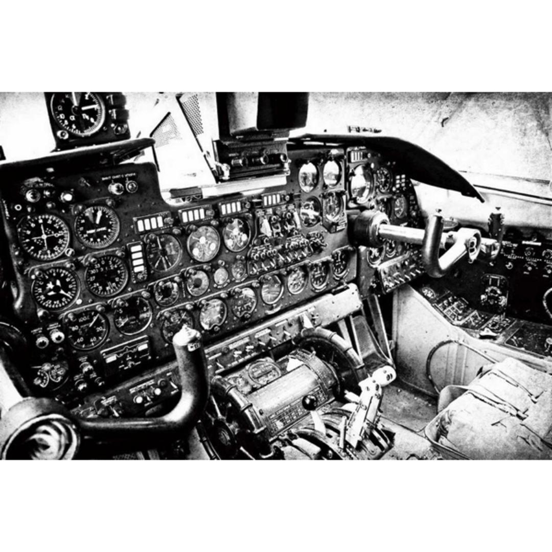 Vintage Cockpit Glass Art image 0