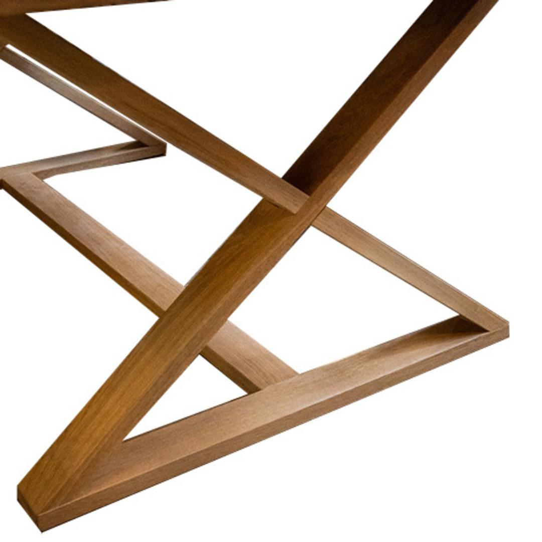 Oakleigh X-Leg Oak Table 2M image 7