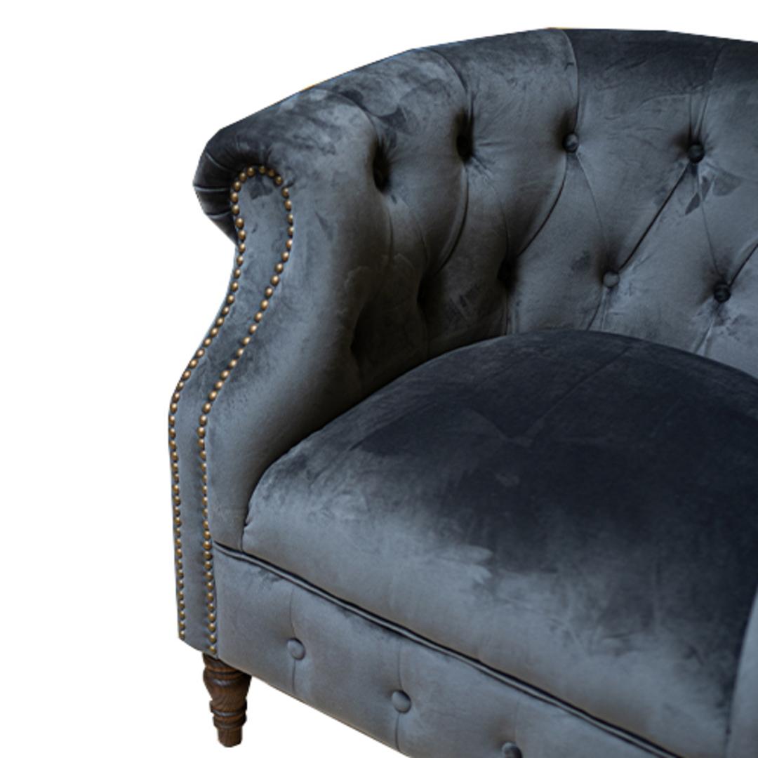 Jude Chair Plush Velvet Charcoal image 4