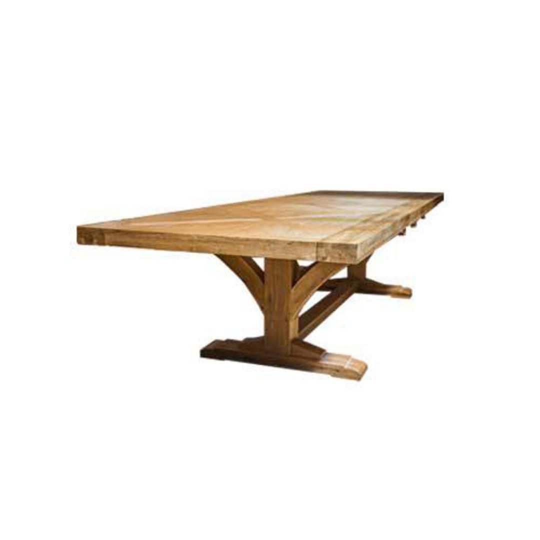 Oak Double Extension Table Parquet Top image 1
