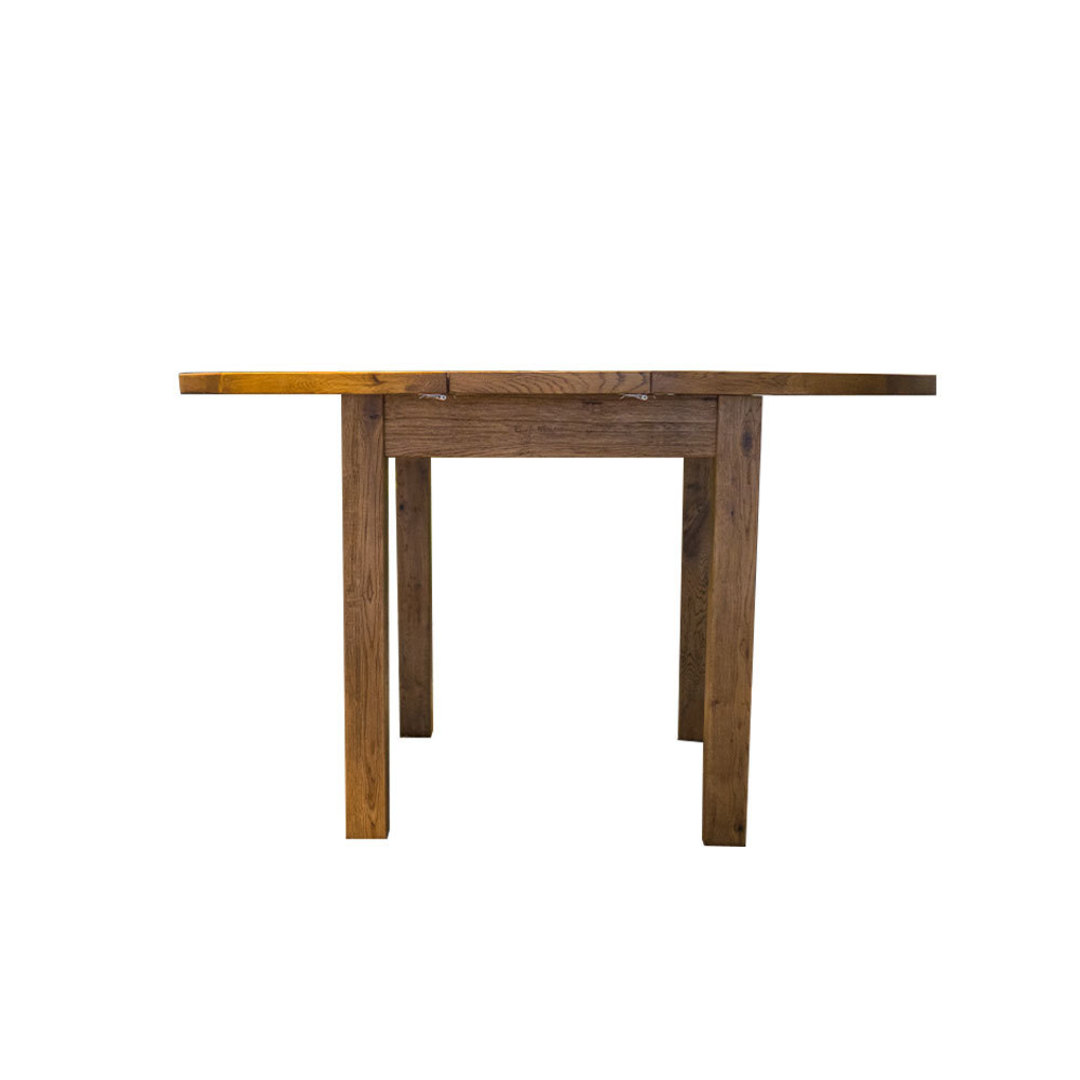 Oak Round Extension Dining Table 106cm image 3