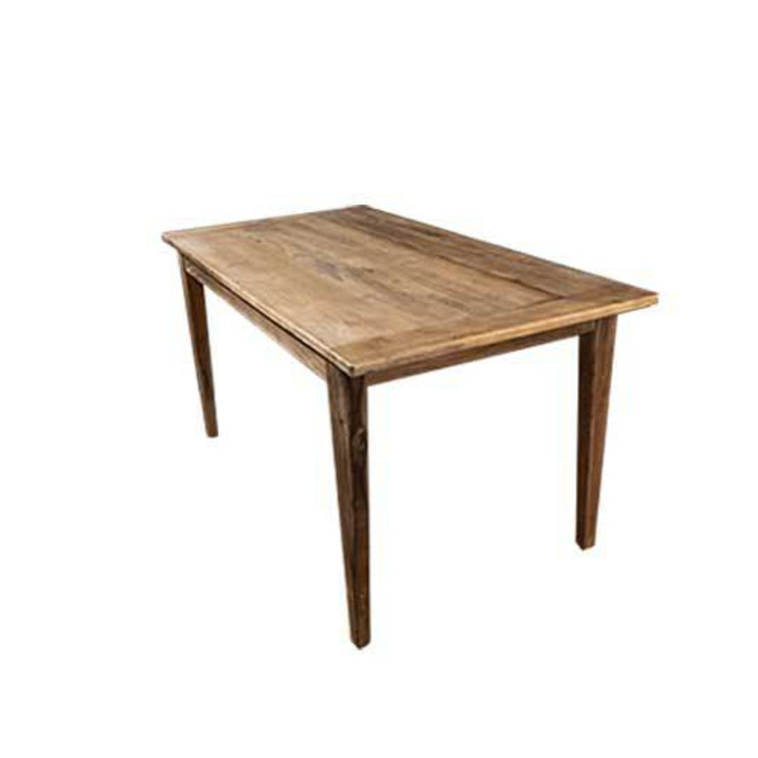 French Dining Table Reclaimed Elm 1.5M image 1