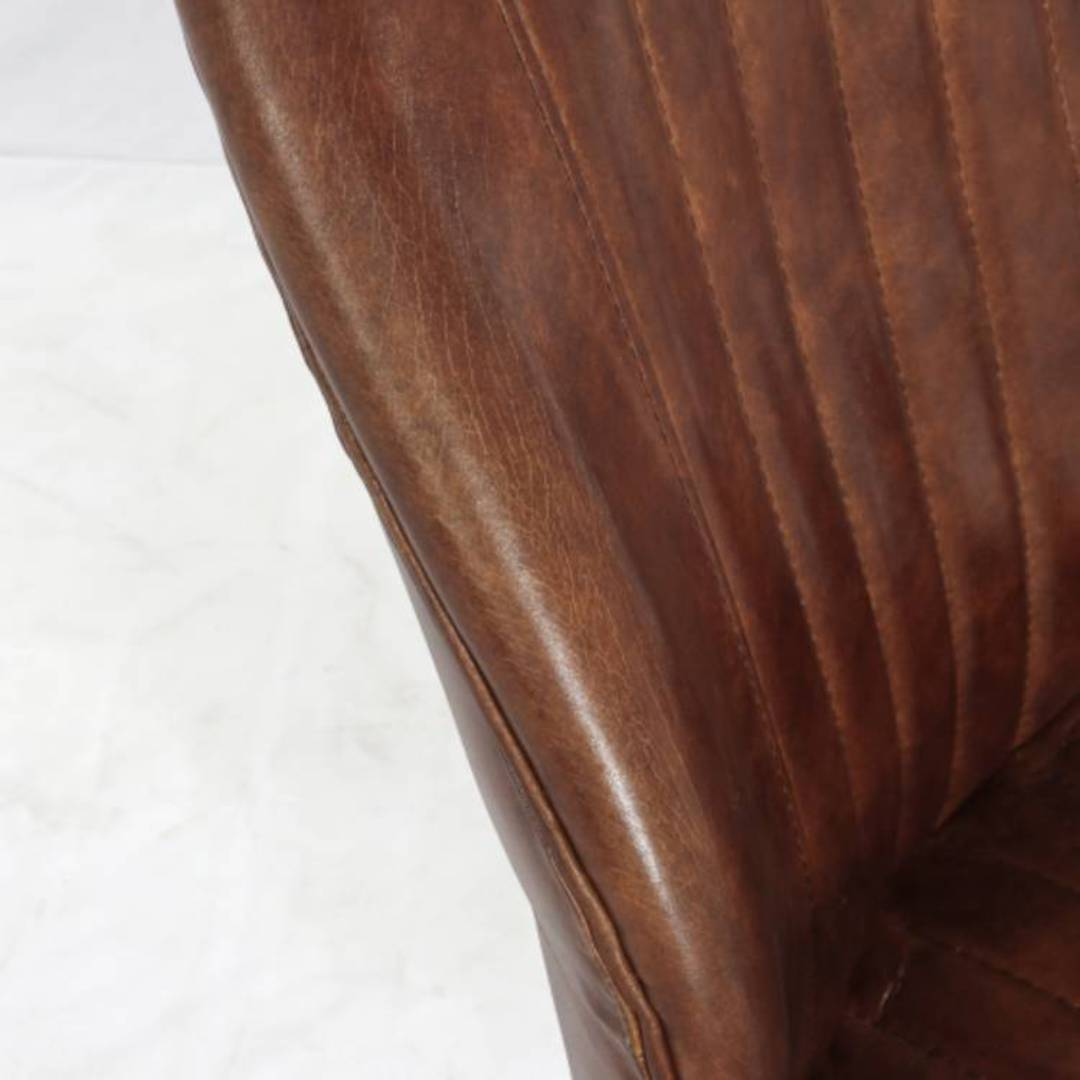 Gloucester Vintage Leather Office Chair Height Adjustable image 6