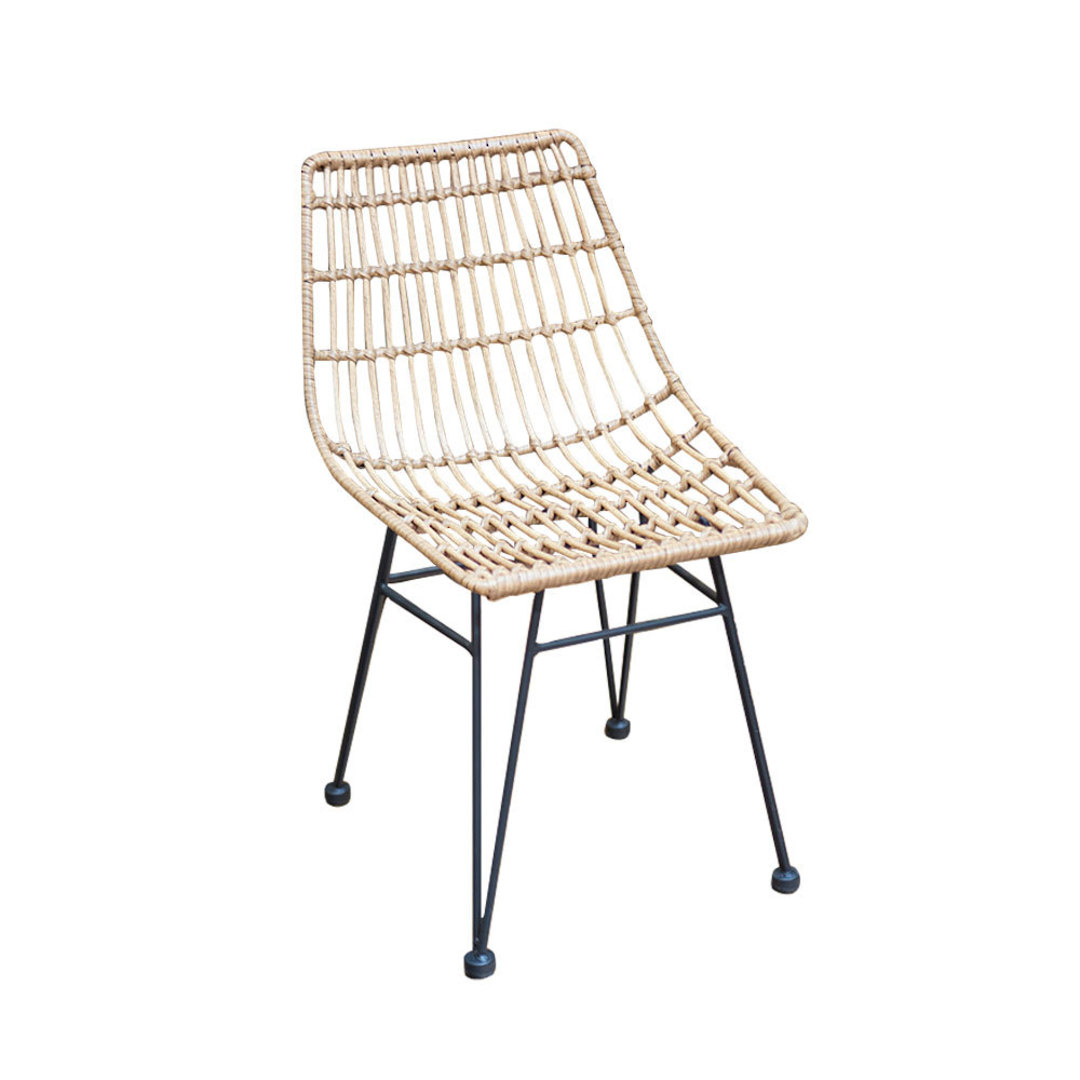 Wicker PE Dining Chair Natural image 0