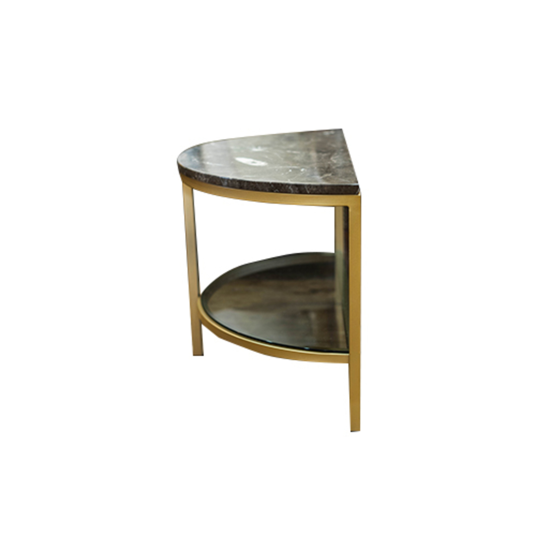 Parkville Arch Brown Marble Table image 3