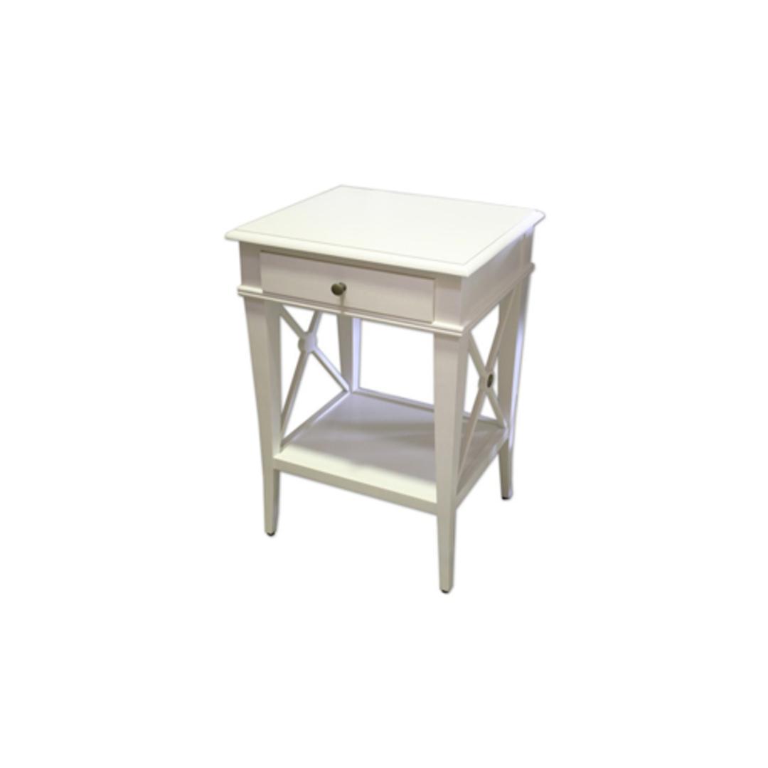 Villa Bedside Table - White Poplar image 0