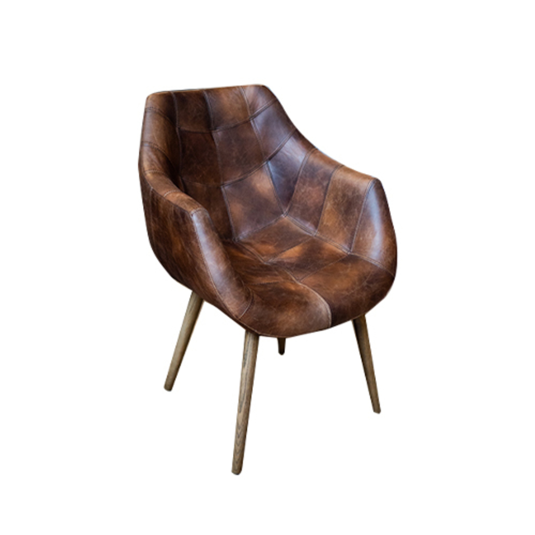 Eden Chair-Brown Leather image 0