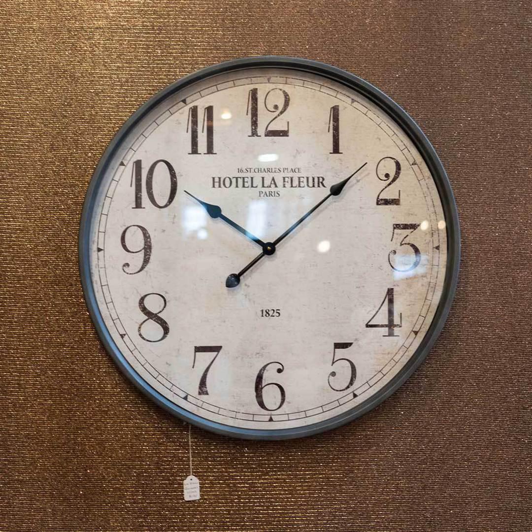 La Fleur Gunmetal Clock image 1