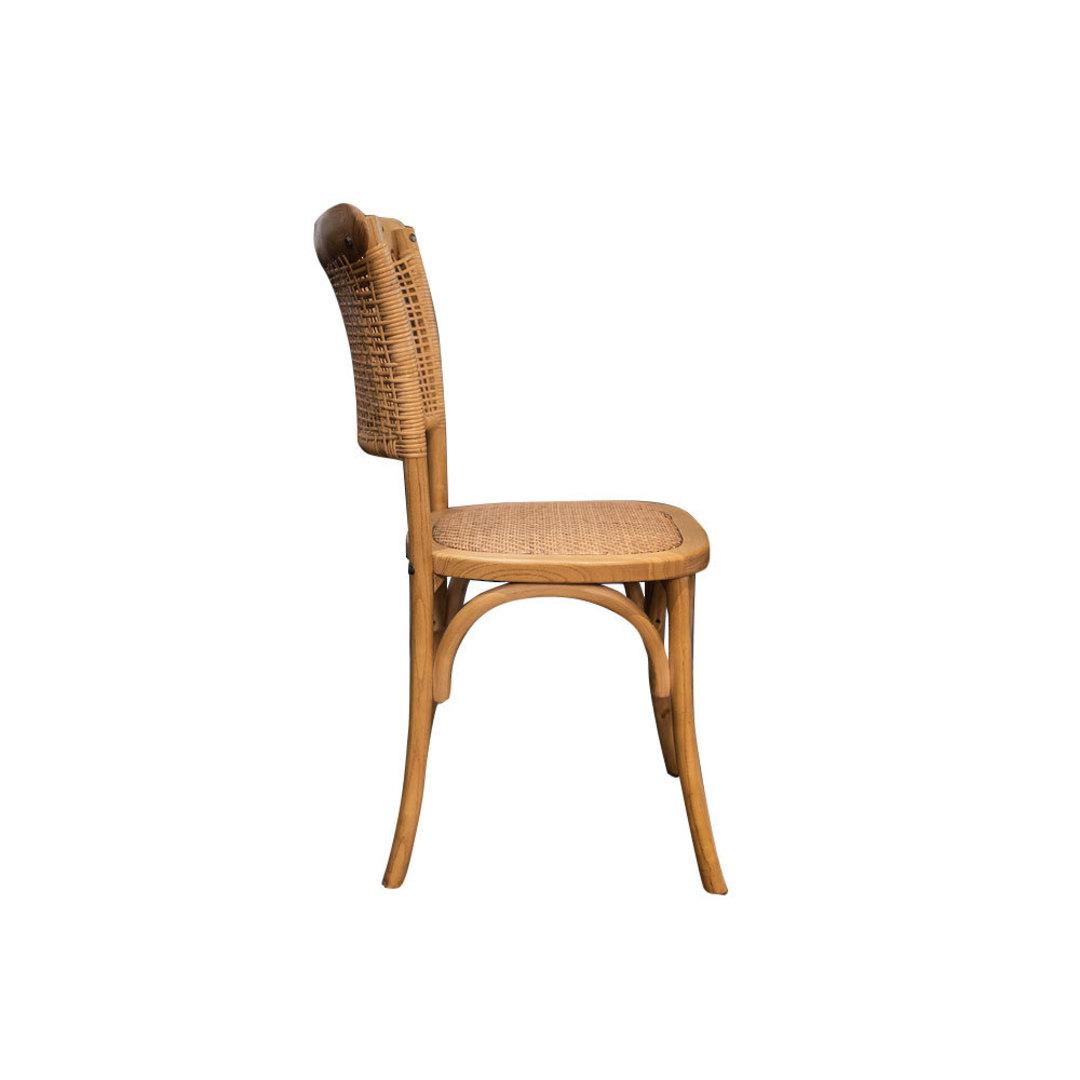 Rattan Weave Dining Chair Oak image 1