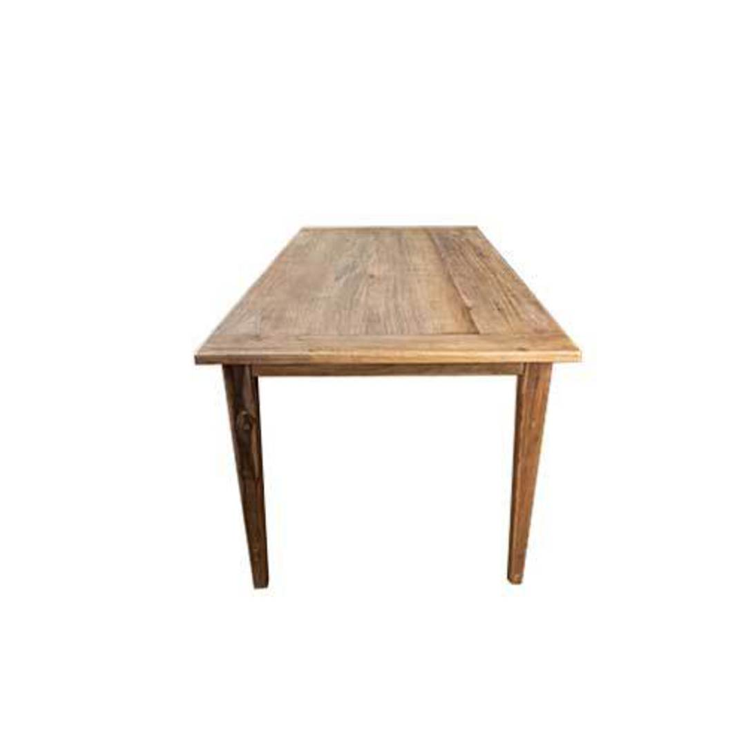 French Dining Table Reclaimed Elm 1.5M image 4