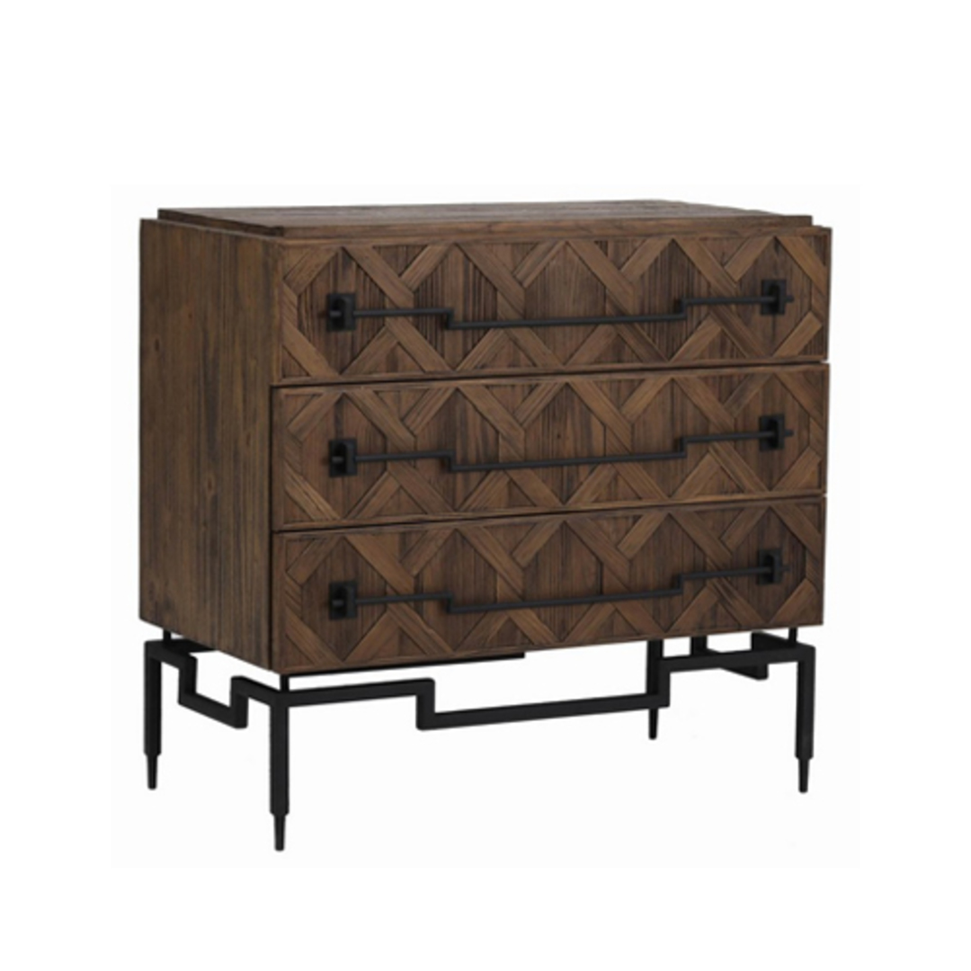 Reclaimed Fir 3 Drawer Chest with Iron image 0