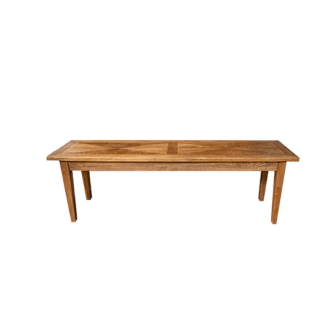 Recycled Elm Parquetry Bench image 0