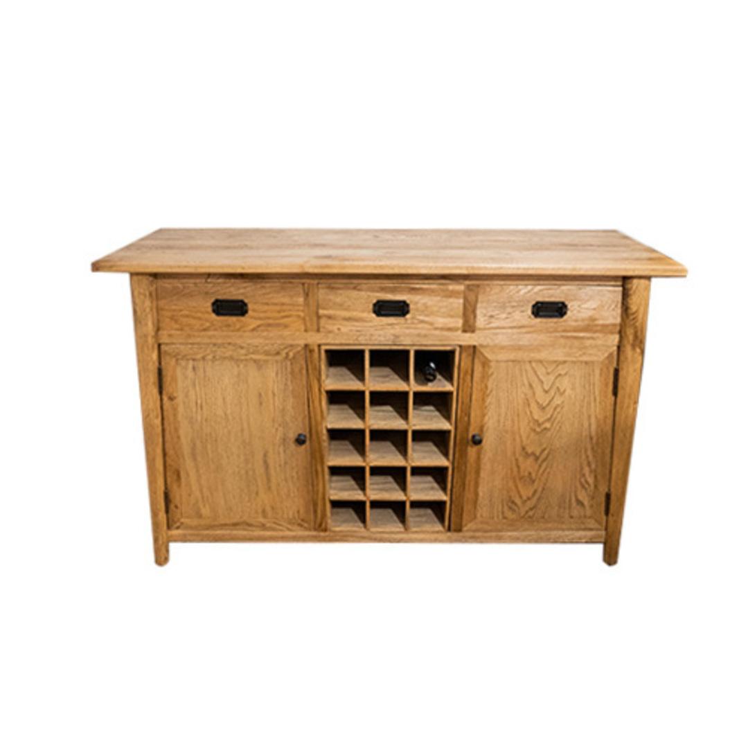 Oak Sideboard With Winestorage image 0