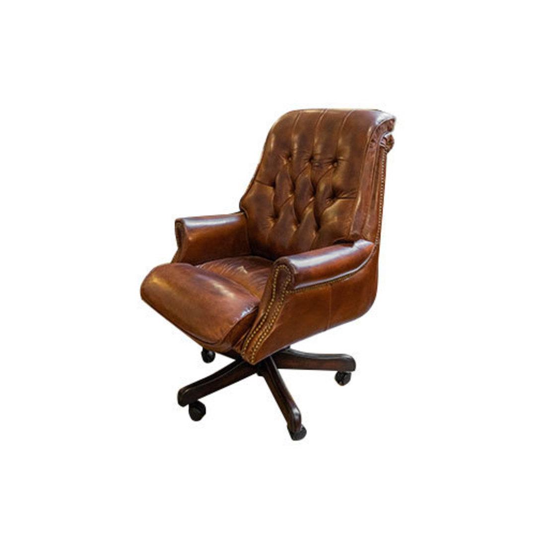 Harrison Height Adjustable Chair - Vintage Cigar Brown image 1