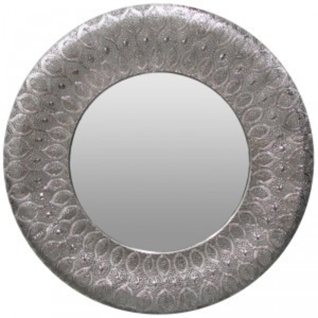 Panama Round Mirror Silver image 0