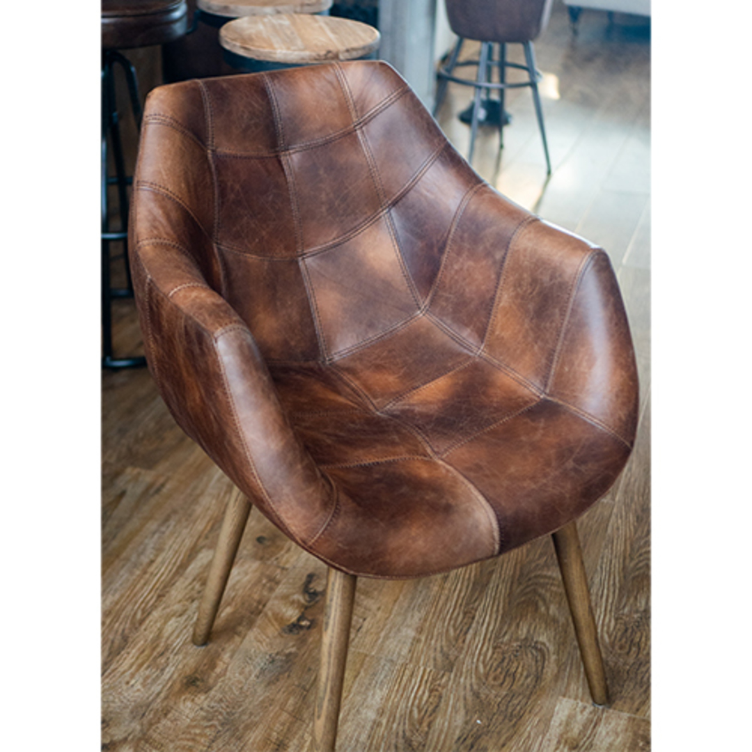 Eden Chair-Brown Leather image 3