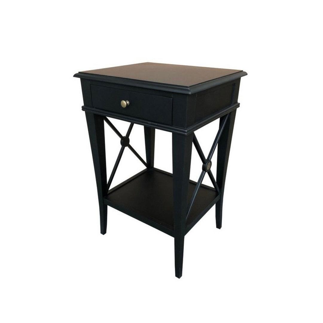 Villa Bedside Table - Black Poplar image 0