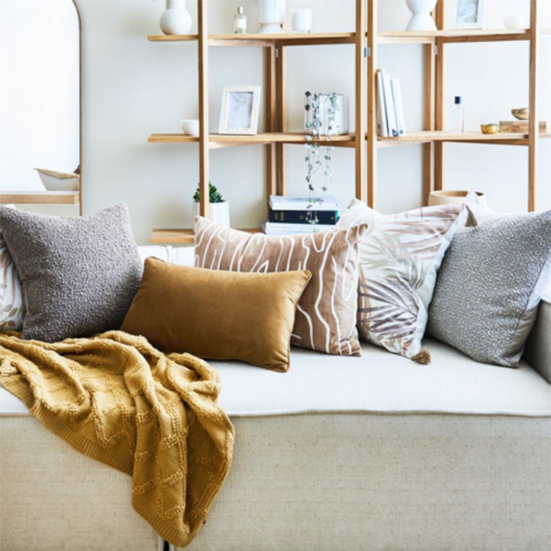 Boucle Stone Cushion image 1