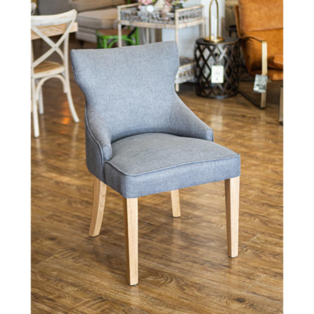 Fleur Dining Chair Grey Fabric image 2