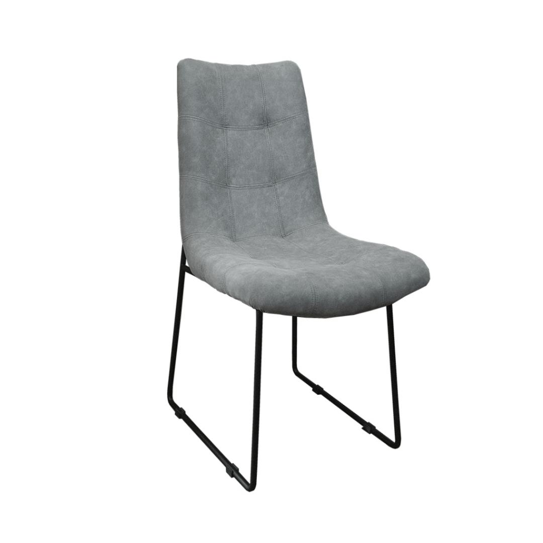 Roma Dining Chair Fabric Grey image 1