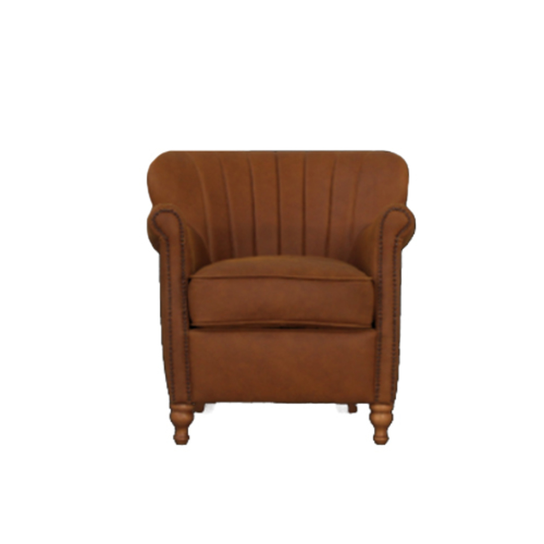 Percy Chair Leather Tan image 0