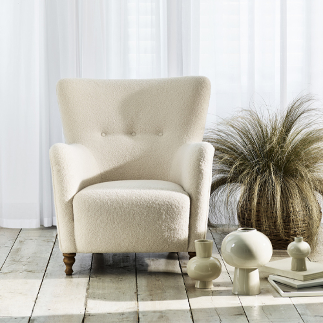 Perry Chair Ivory image 1