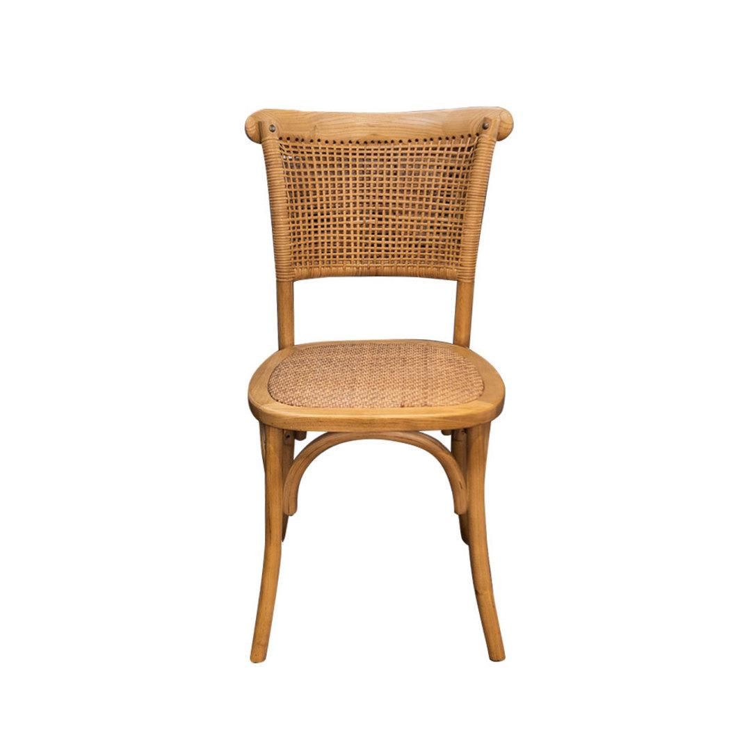 Rattan Weave Dining Chair Oak image 0