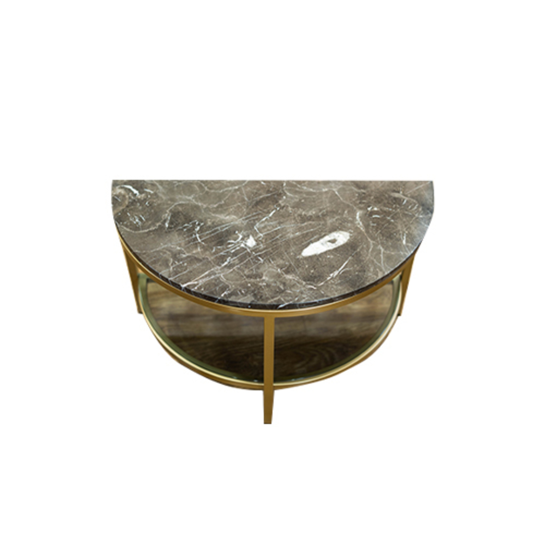 Parkville Arch Brown Marble Table image 2