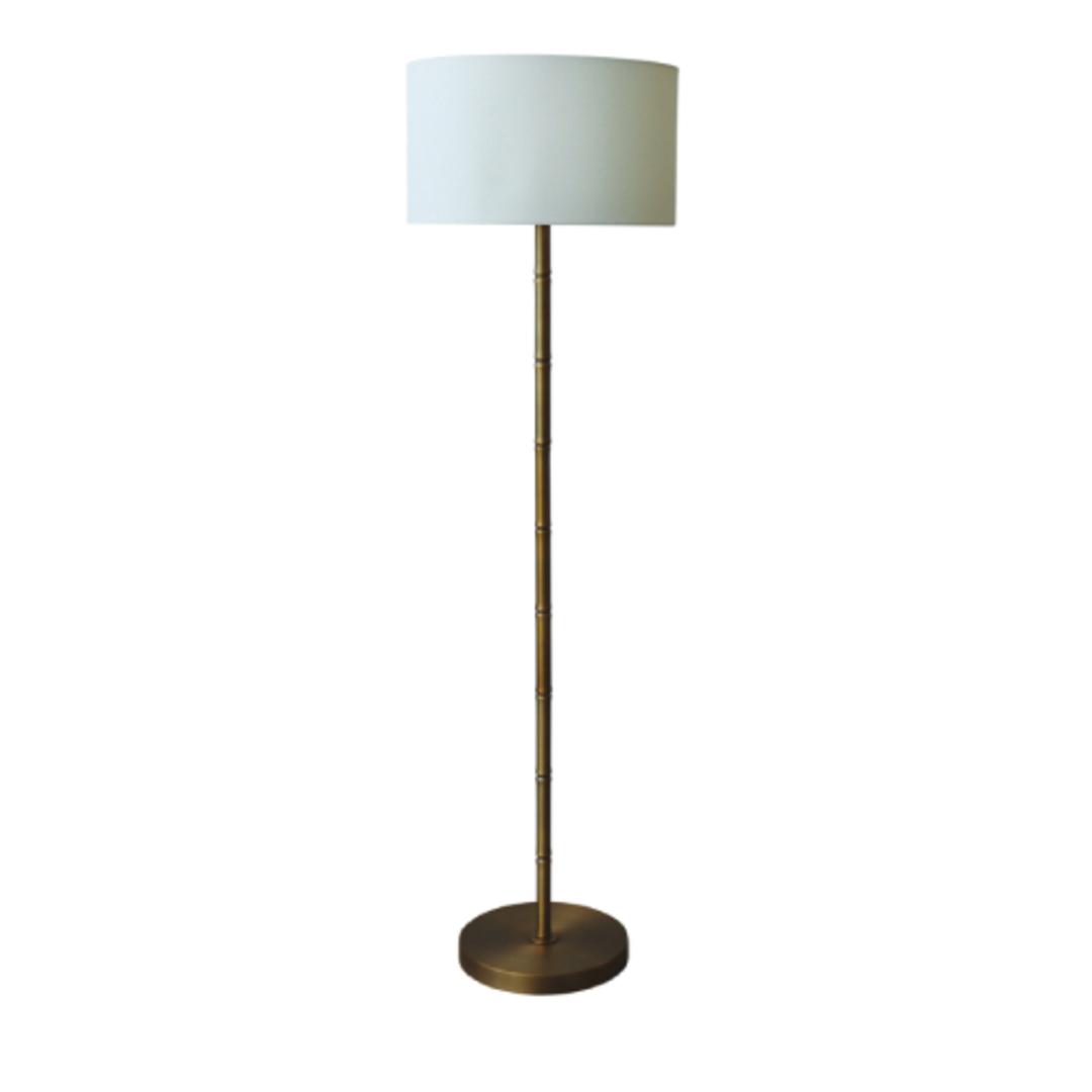 Bamboo Brass Floor Lamp image 0