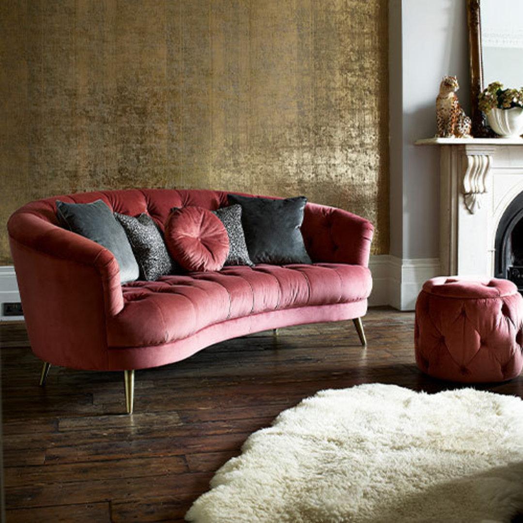 Jean Maxi Sofa Plush Rose image 1