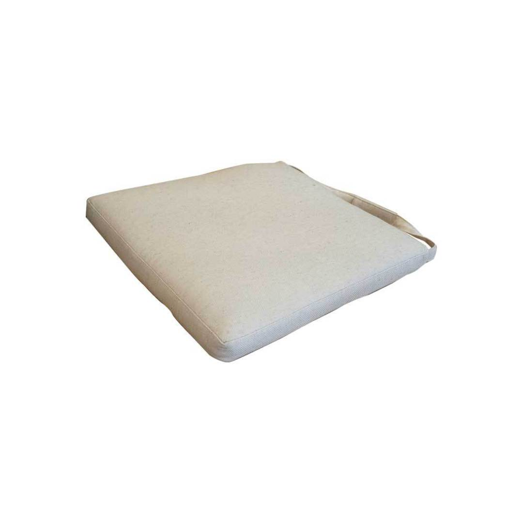 Linen Seat Cushion Feather Filled For Cross Chair image 1