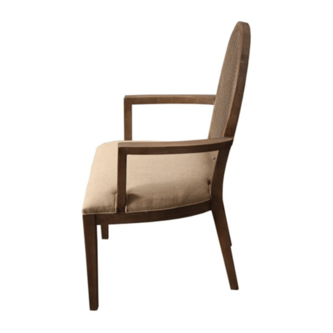 Valdez Rattan Back Carver Chair With American Oak image 2