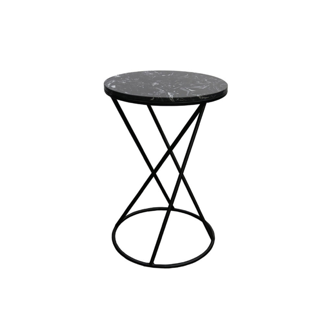 Menorca Side Table Black Marble image 0