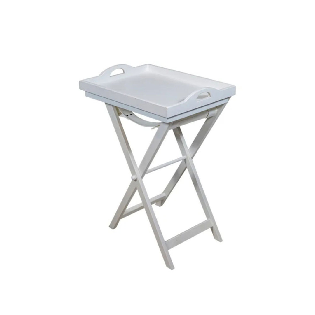 White Wooden Tray Table image 0