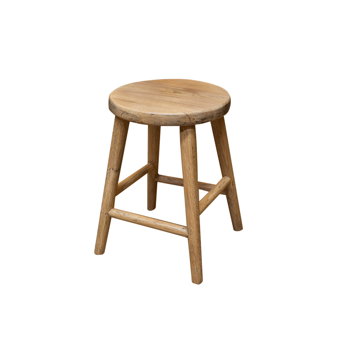 Oak Stool Round Top 45cm image 0