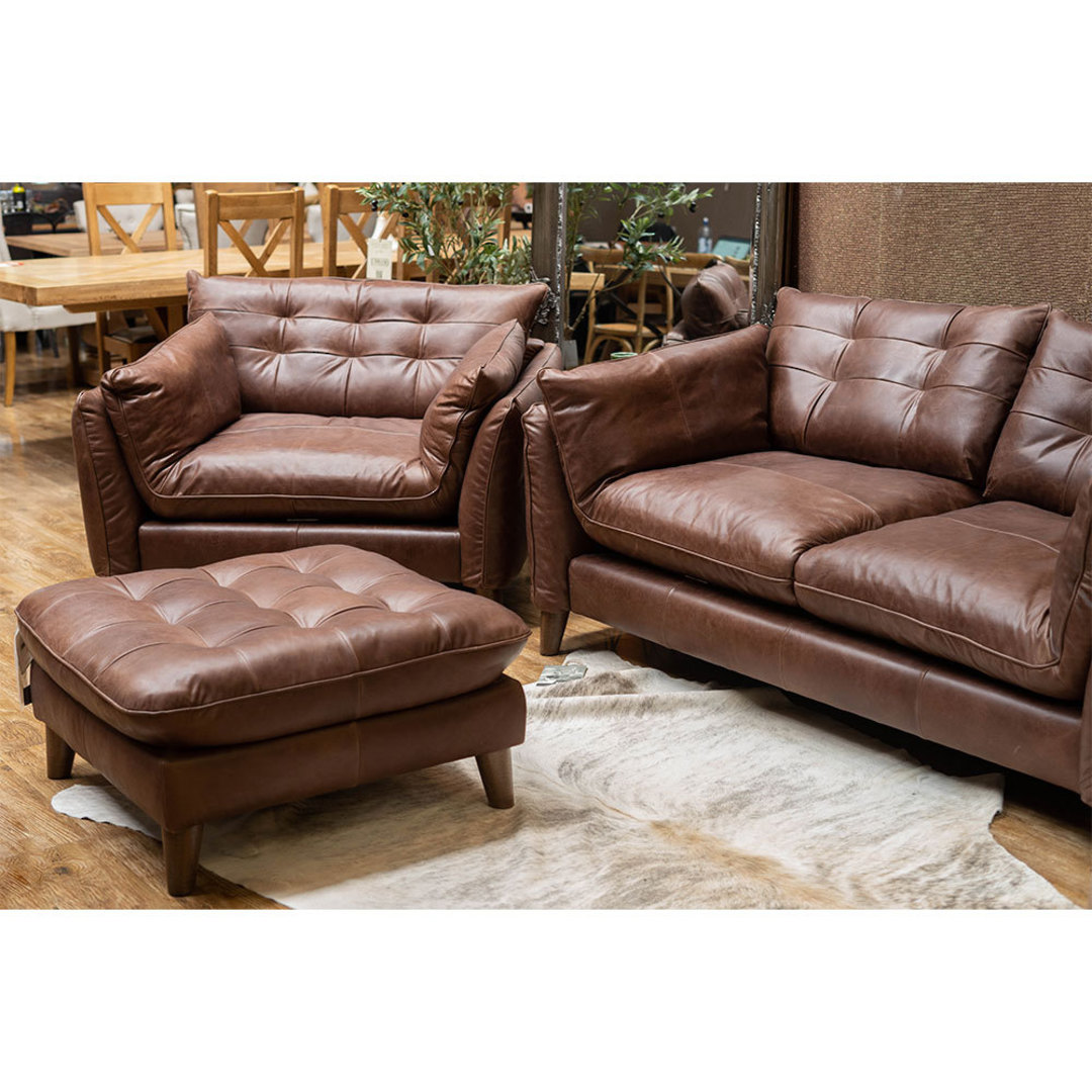 Tobias Chair Leather Brown image 1