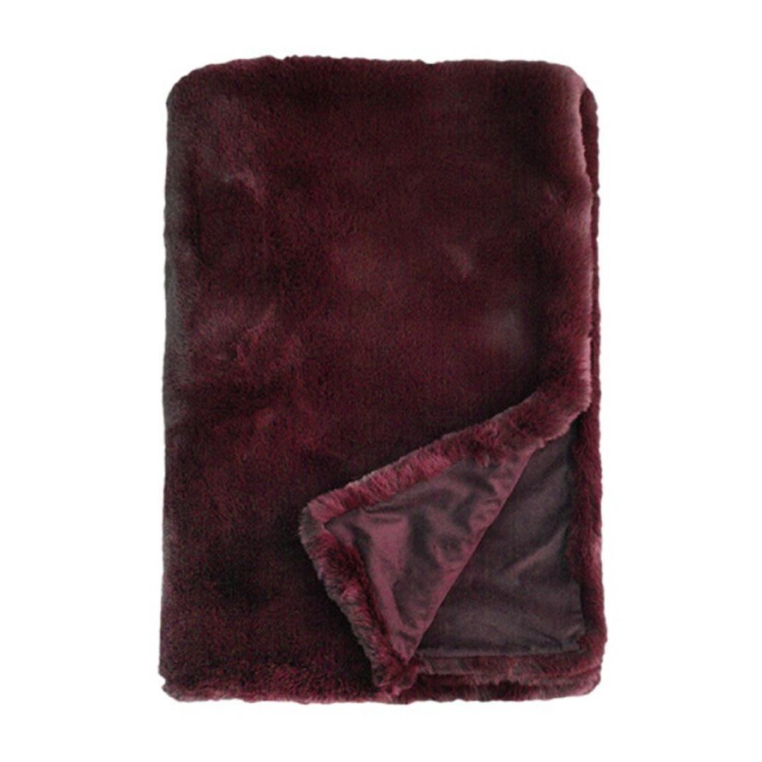 Pele Faux Fur Throw Bordeaux image 0