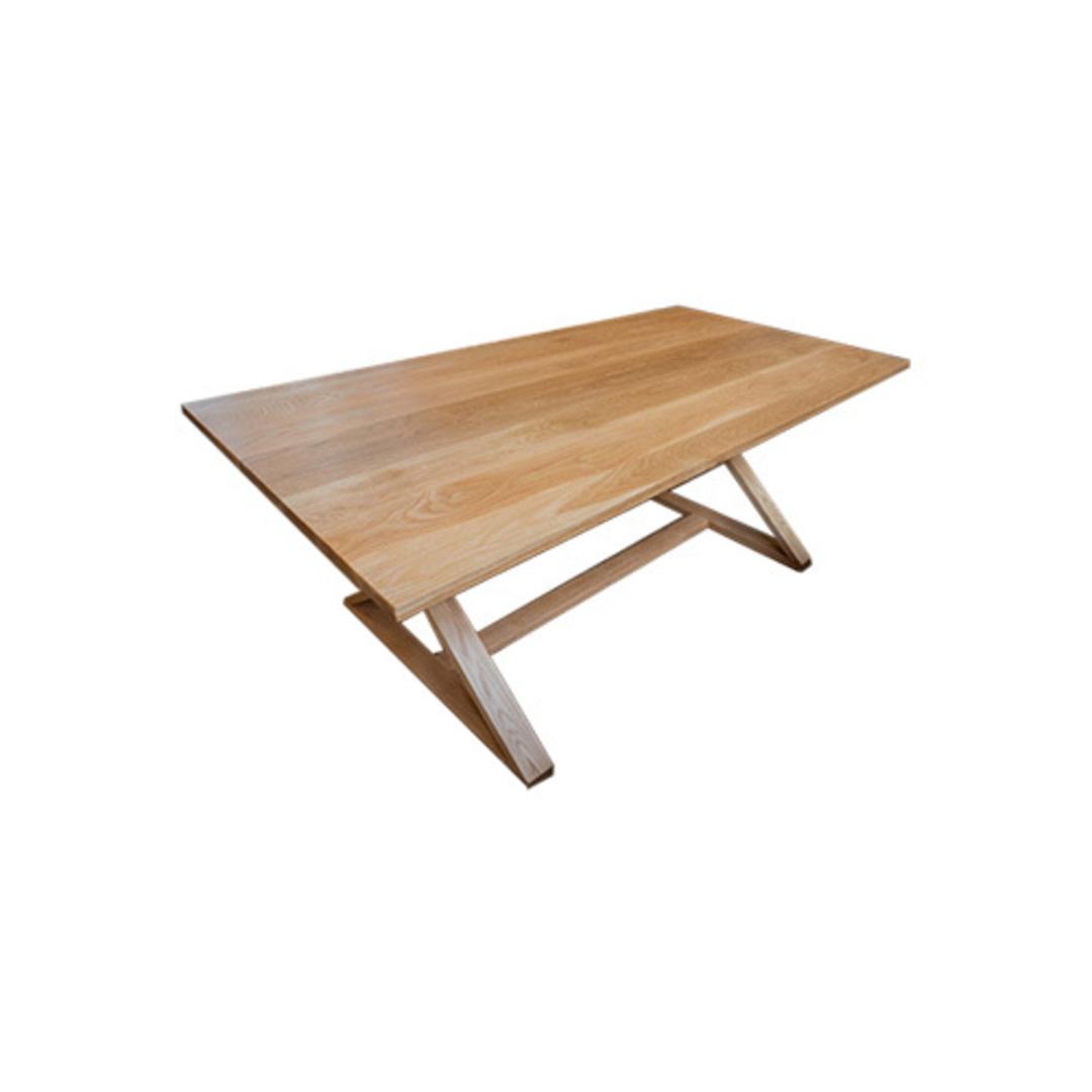 Oakleigh X-Leg Oak Table 2M image 5