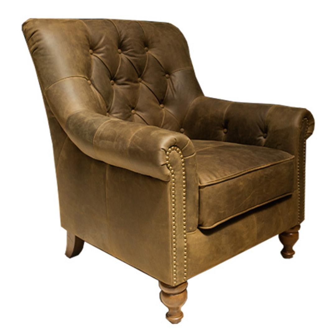 Sofia Leather Chair Jin Black image 1