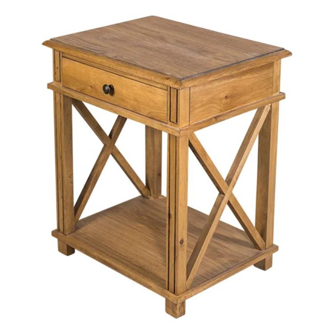 Heritage Oak Bedside Table image 1