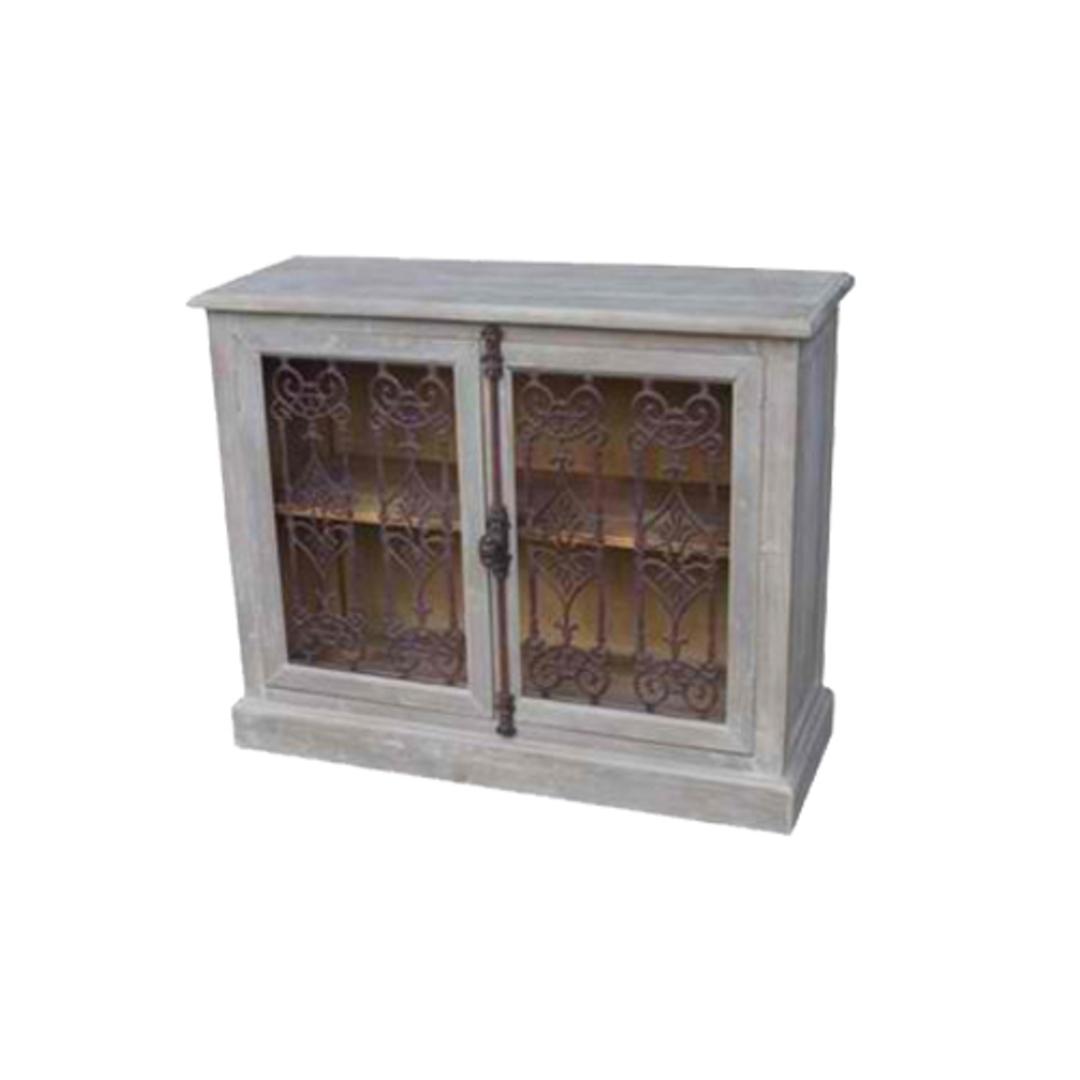 2 Door Buffet With Metal Filigree Old Pine/Grey Wash image 0