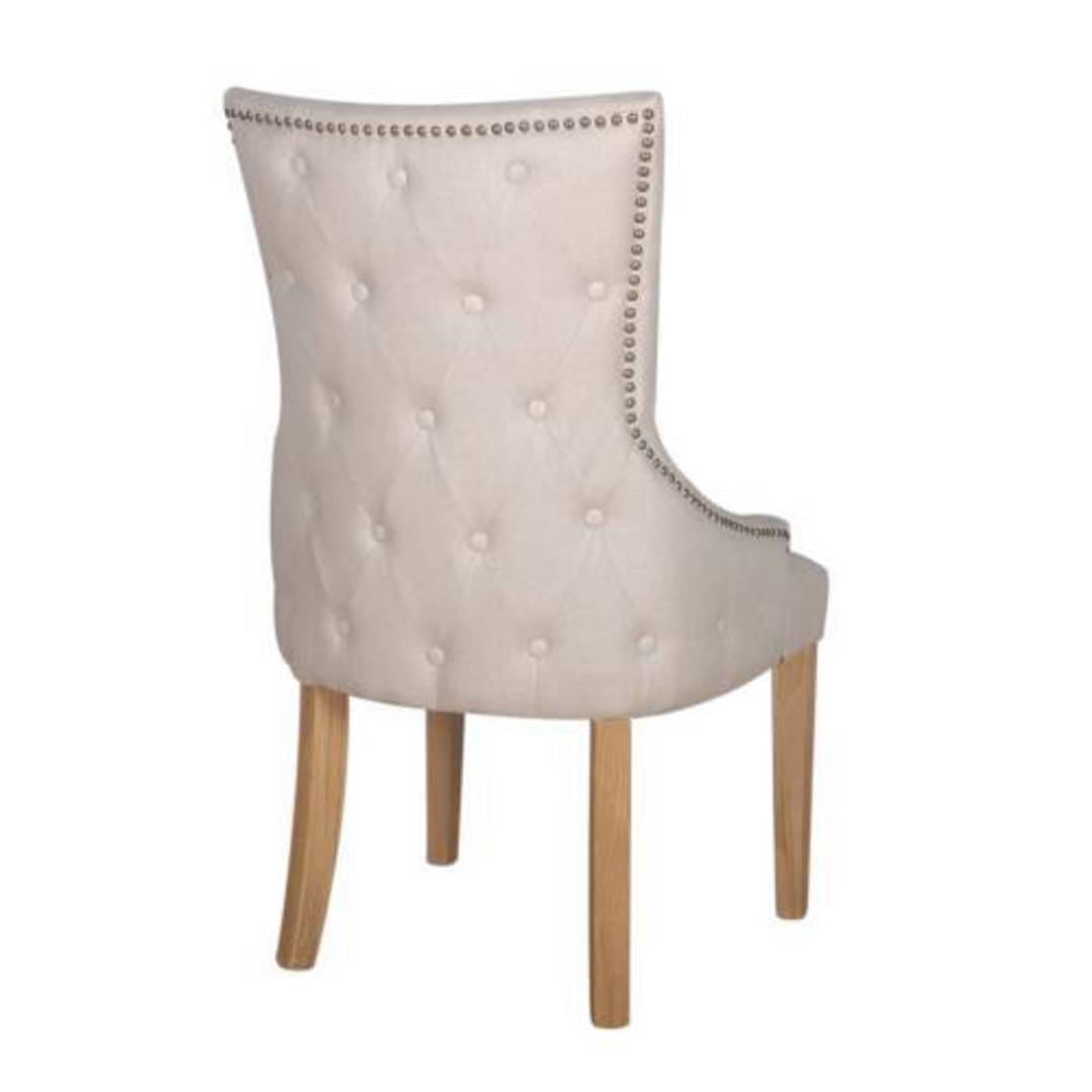 Charleston Dining Chair Natural Linen image 1
