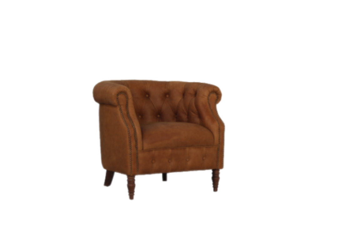 Jude Chair Leather Tan image 1