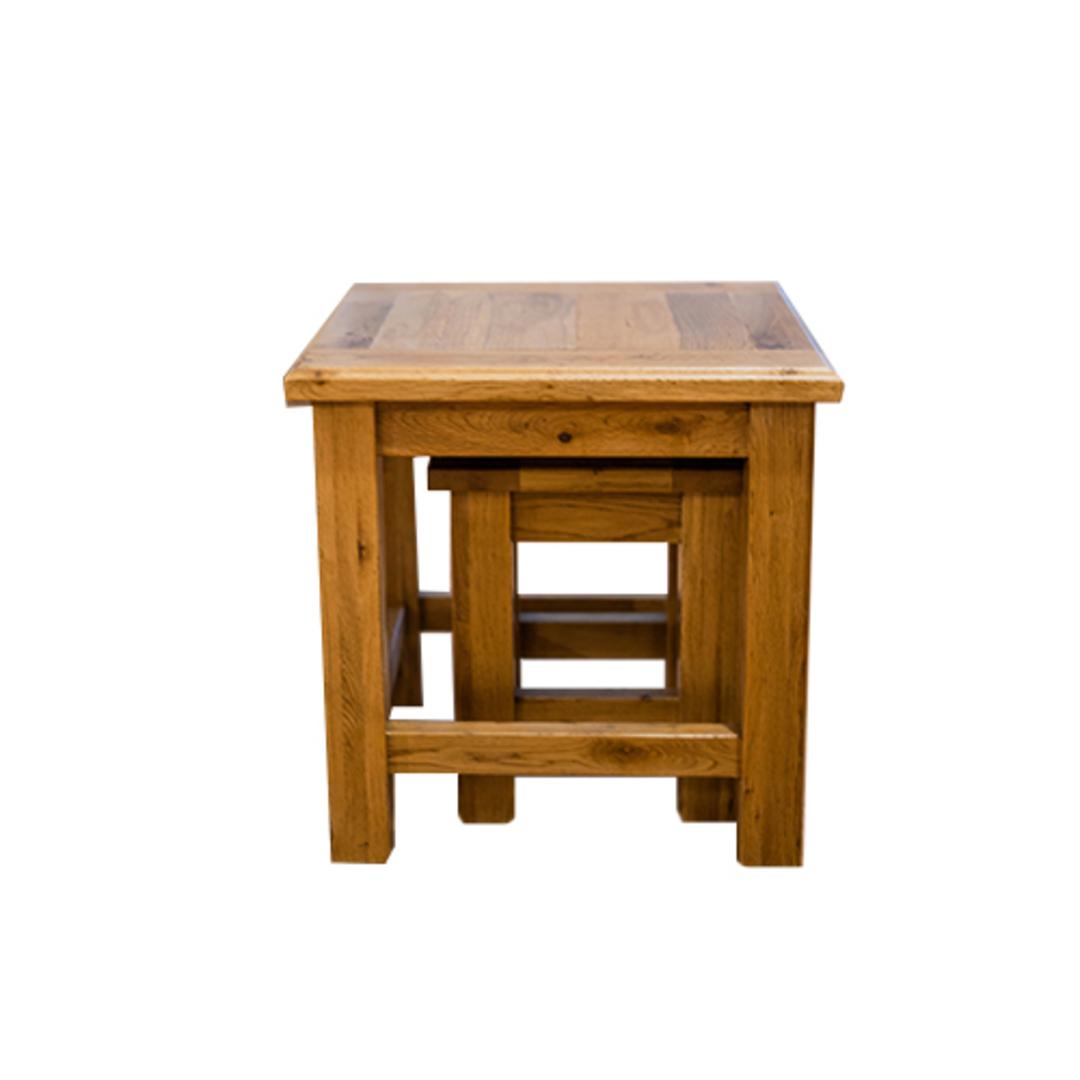 Oak Nest Tables Set 2 image 1